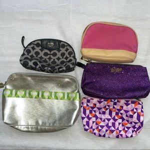 Makeup Travel Bag Bundle Lot of 5